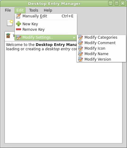 PySide - Desktop Entry Manager