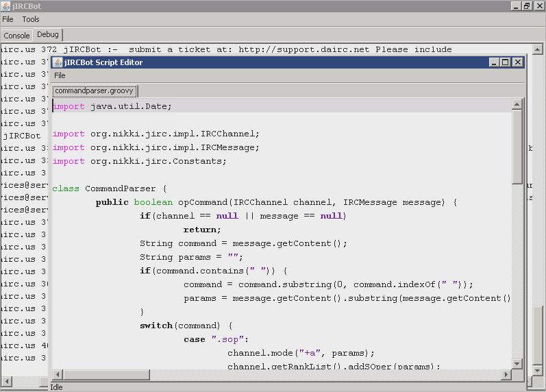 jIRCBot - Advanced java IRC Bot