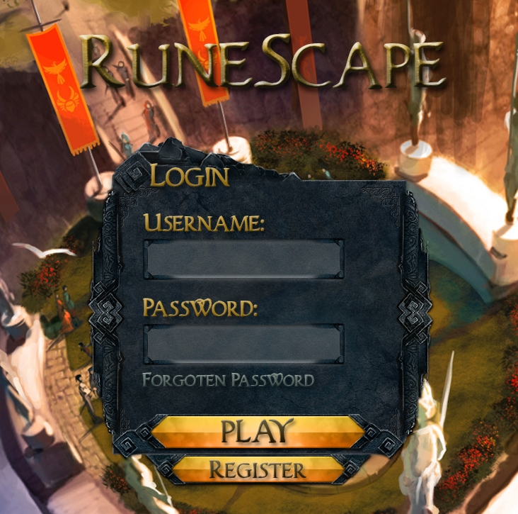 Login Screen I Made A While Back Not Great